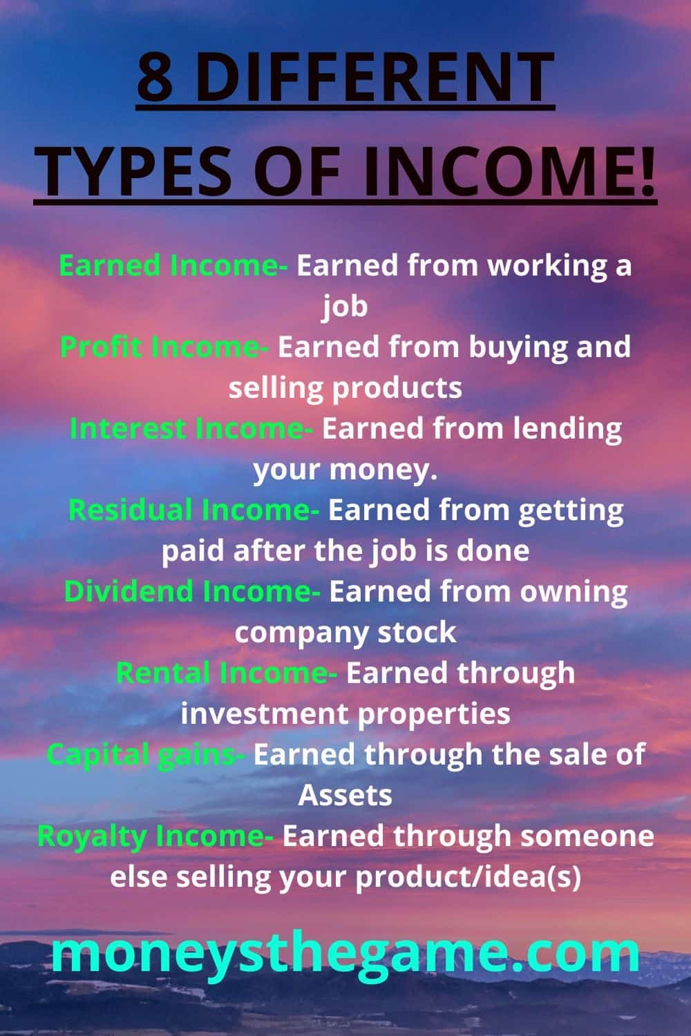 8 Different Types Of Income And How You Can Create Each