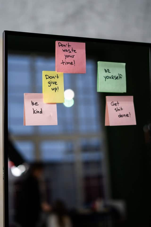 multiple sticky notes of encouragement